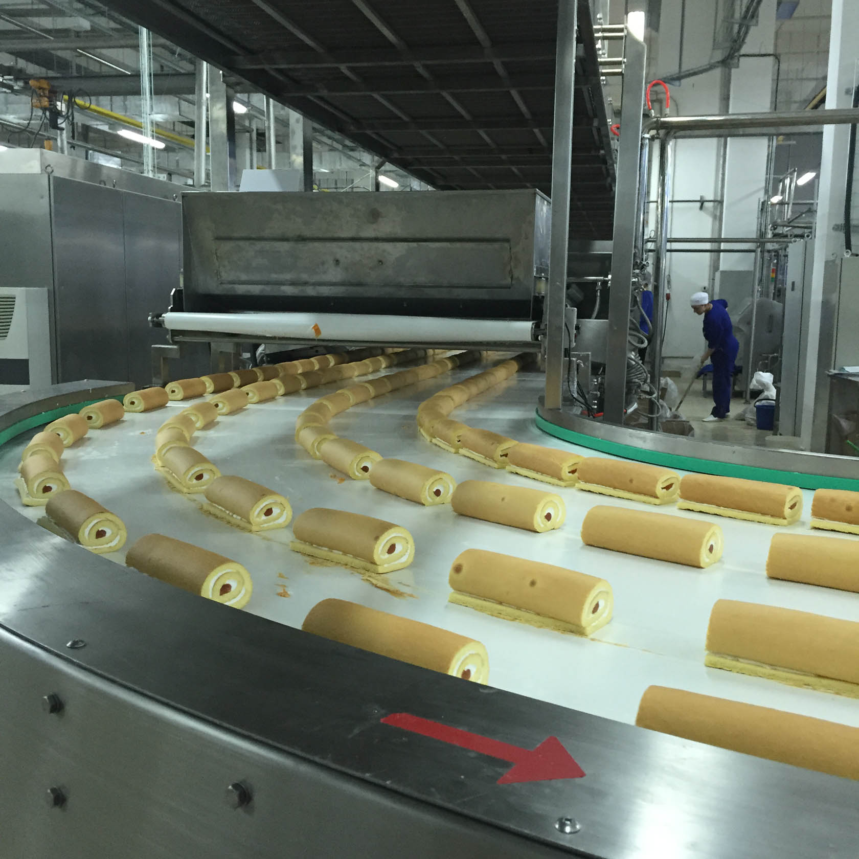 Swisss roll and layer cake production line