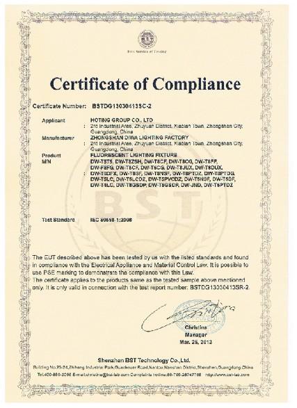 Fluorescent Lighting Fixture IEC 60598