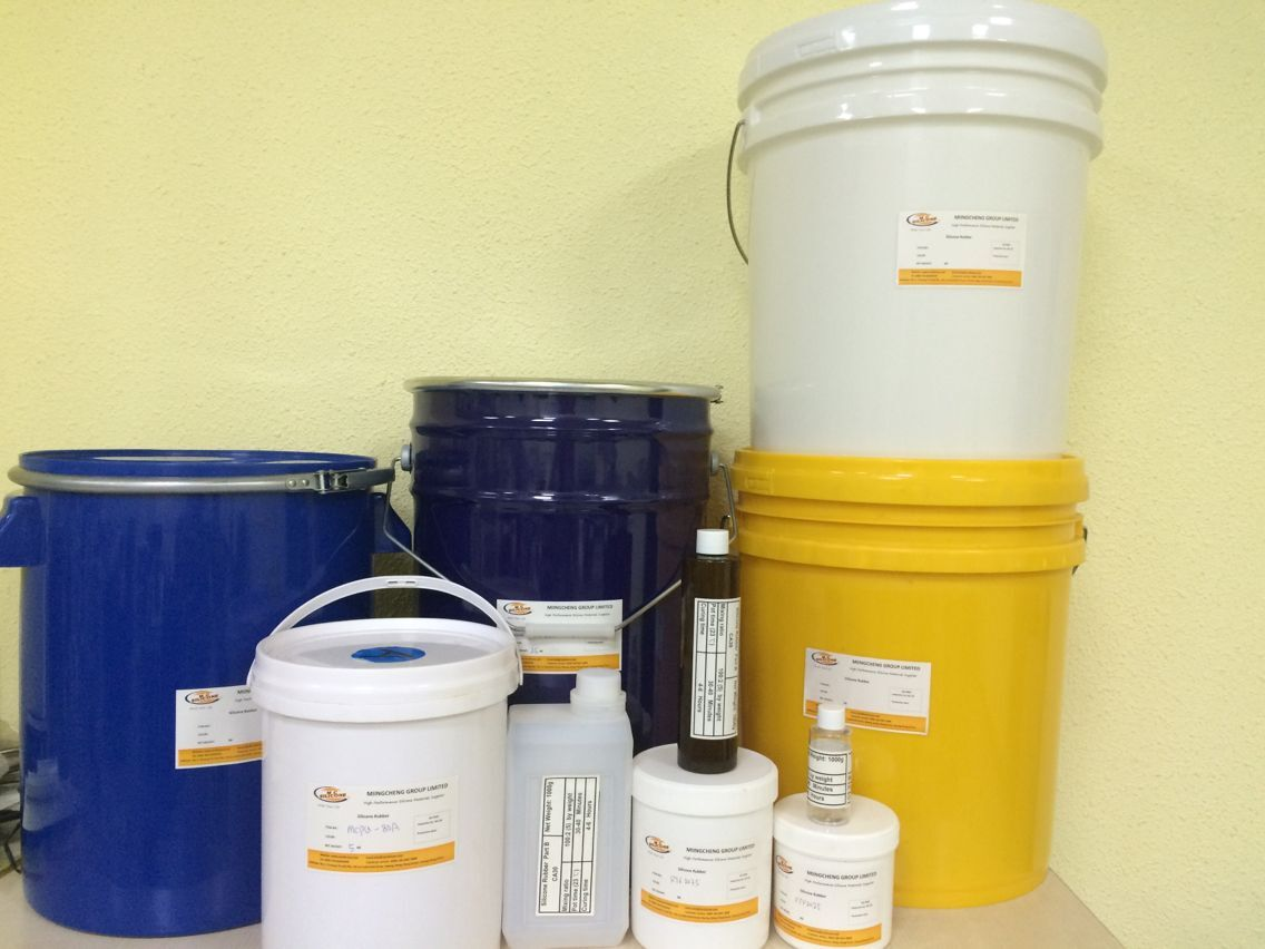 Packaging of silicone rubber