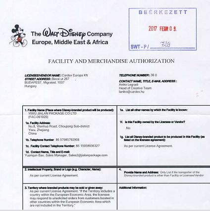 Disney Audit