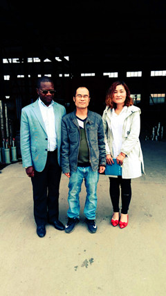 the Zimbabwe friend come to our factory for visit