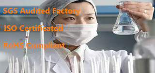 SGS audited factory, ISO certified , RoHS Compiant