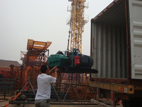 Loading hoisting mechanism of Self-raised tower crane