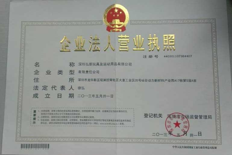 Hopen Company Business License