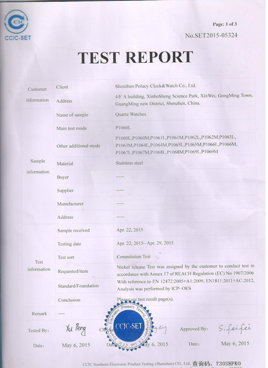 Report for test