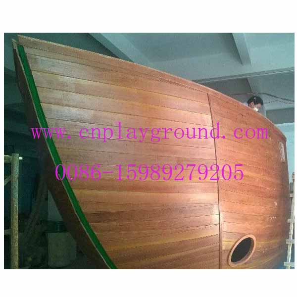 Outdoor Wooden Pirate Ship for Canadian Customer