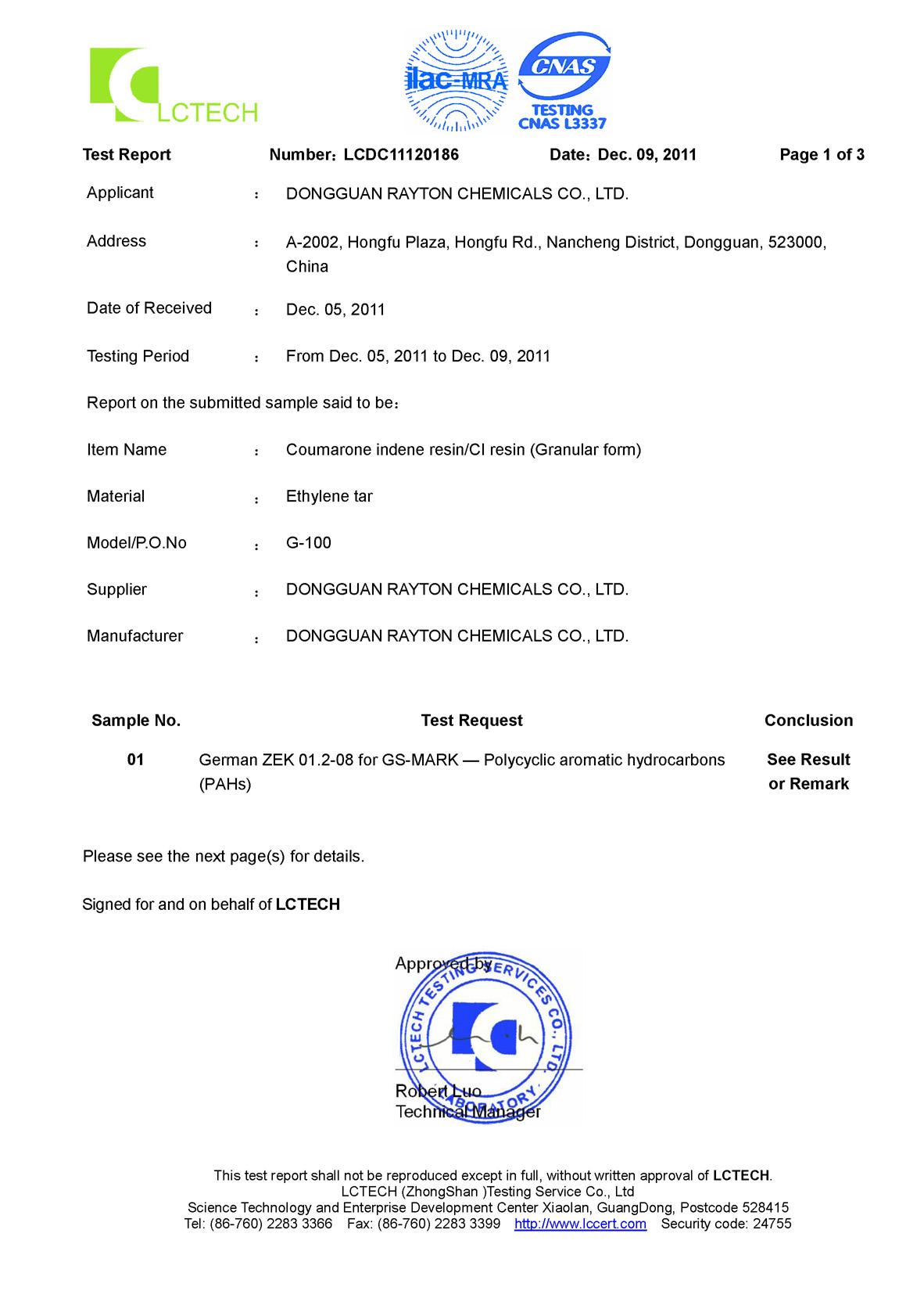 CI GR PAHs (page 1)