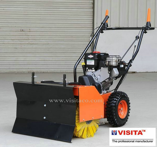 gasoline sweeper with snow blade