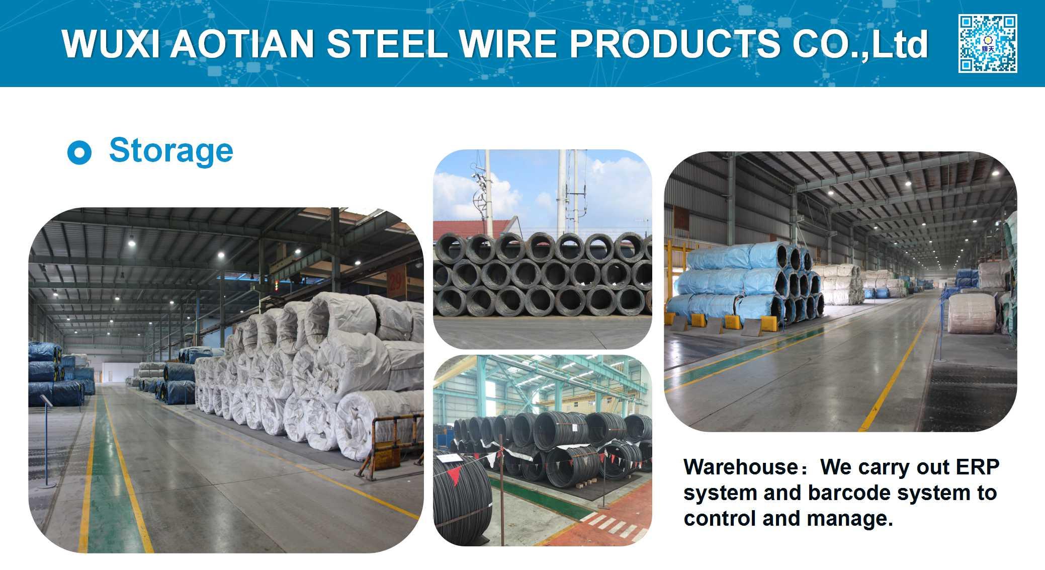 Storage of wire rod
