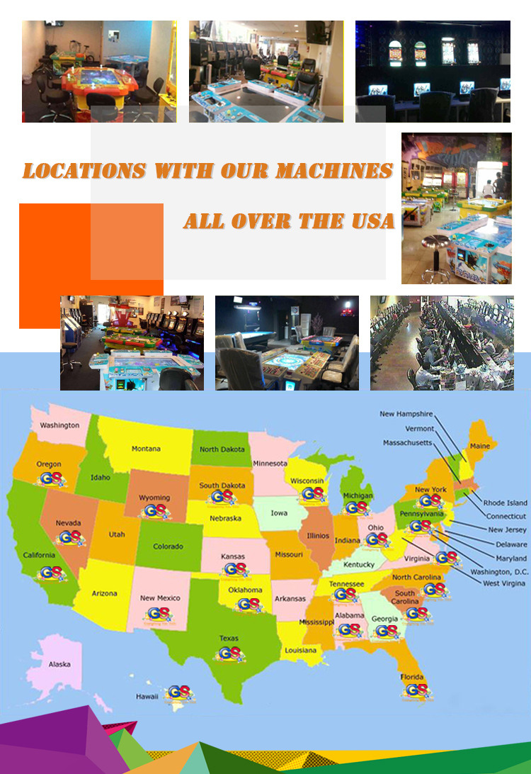Our Games And Locations Are Pretty Spread Around the Whole USA