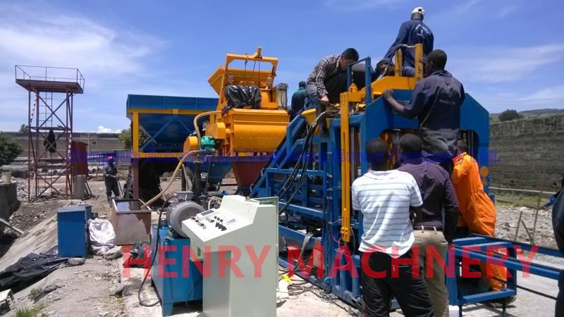 QT4-15C automatic block making machine in Kenya