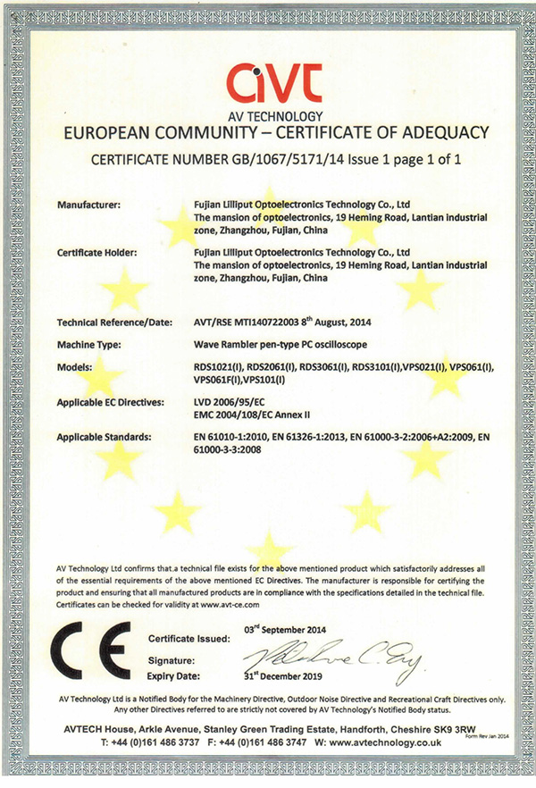 CE Certification of RDS series
