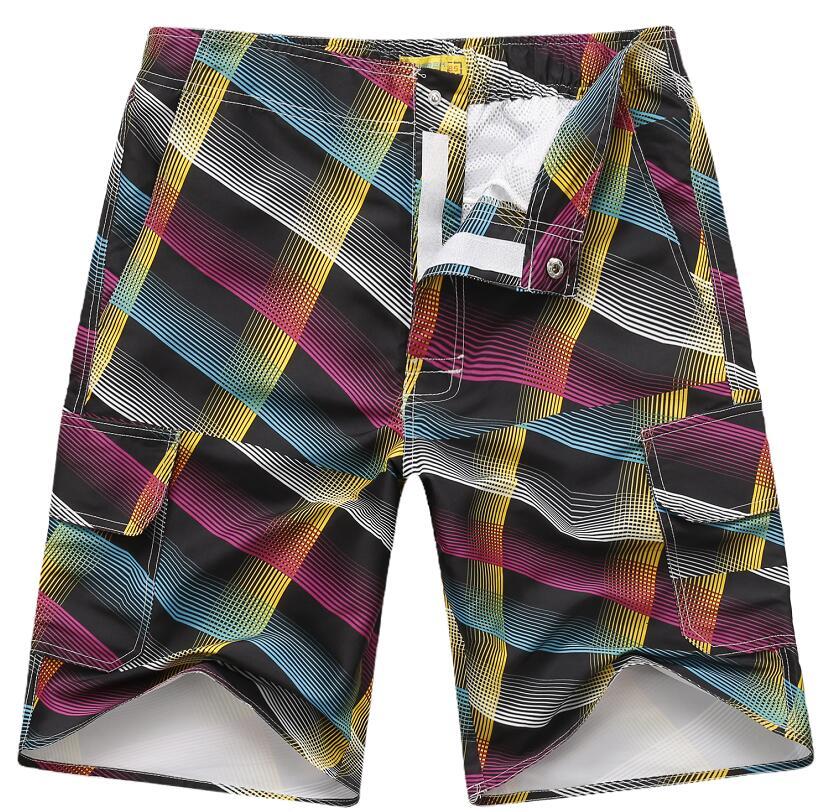 Men's Beach Fashion Printed Cycling Pants Shorts (Log-09I)