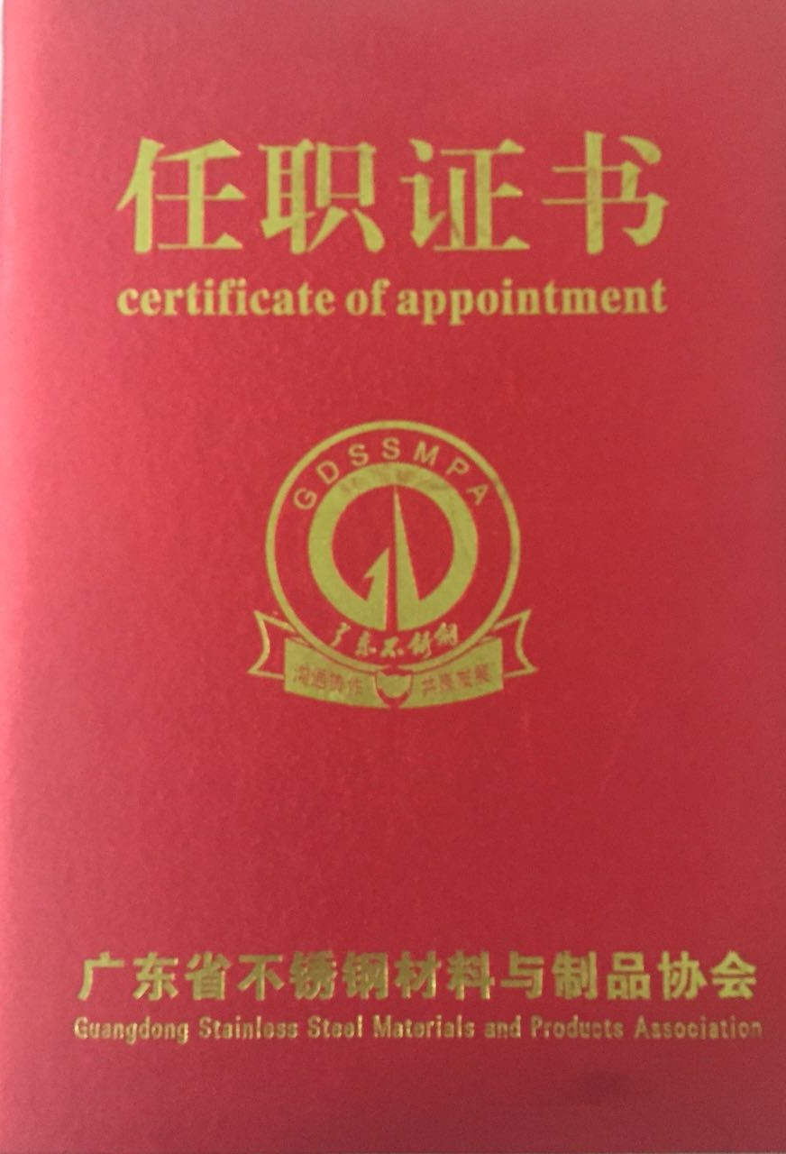 Certificate of appointment