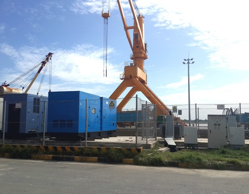 Huihe Genset Applied at the Port