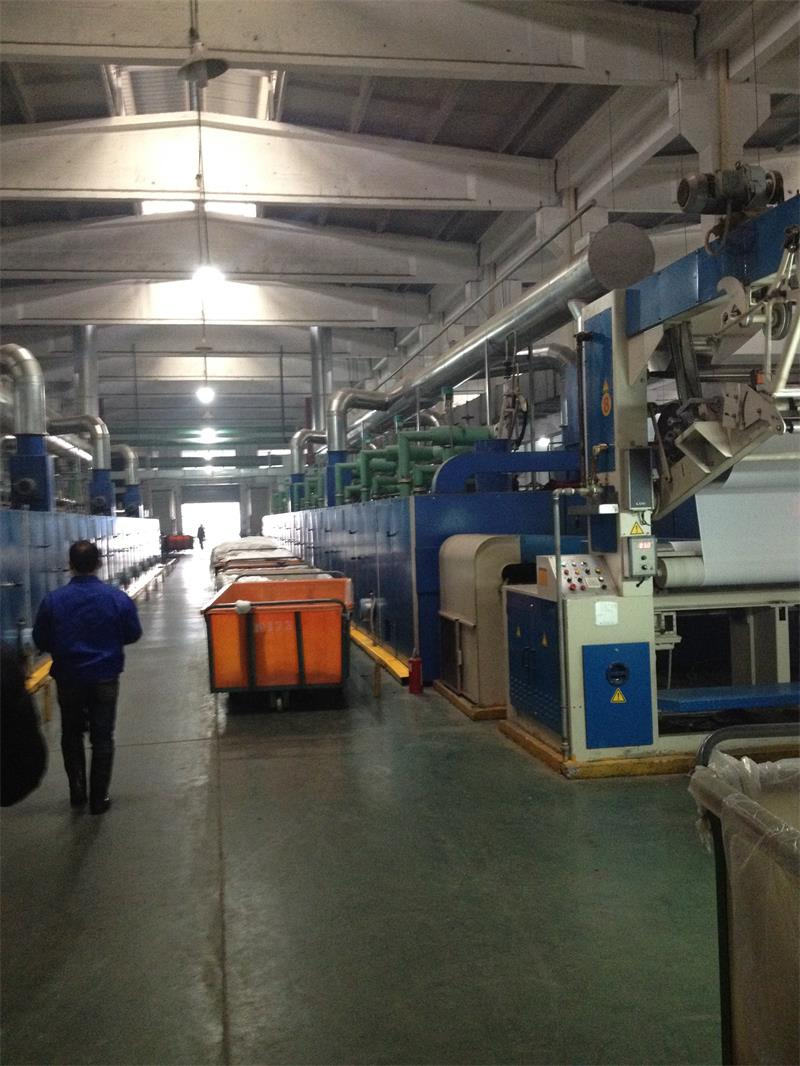 Setting machine of the dyeing factory