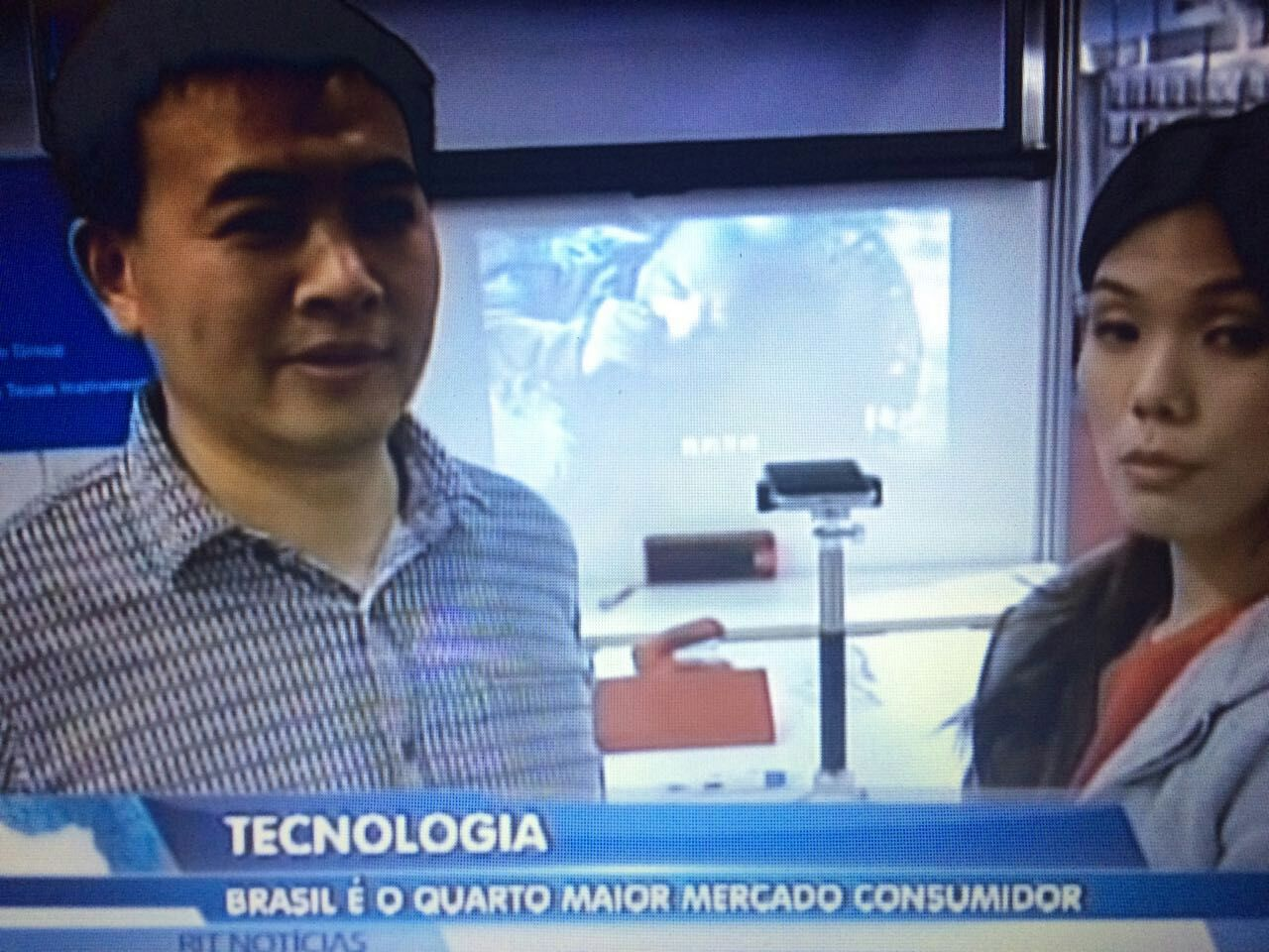 Interviewed by Brazil TV
