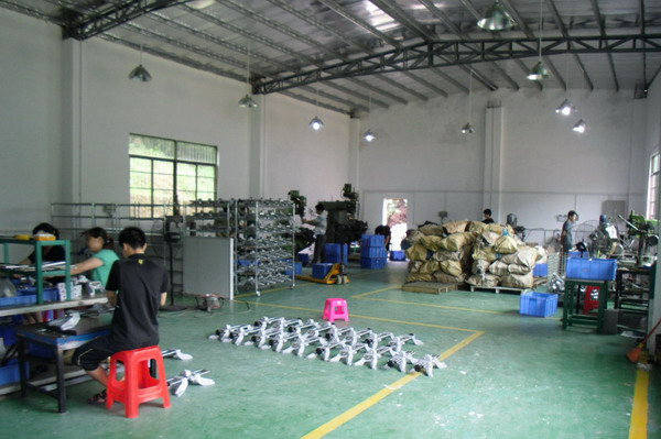 Wheel alignment clamp production line/plant