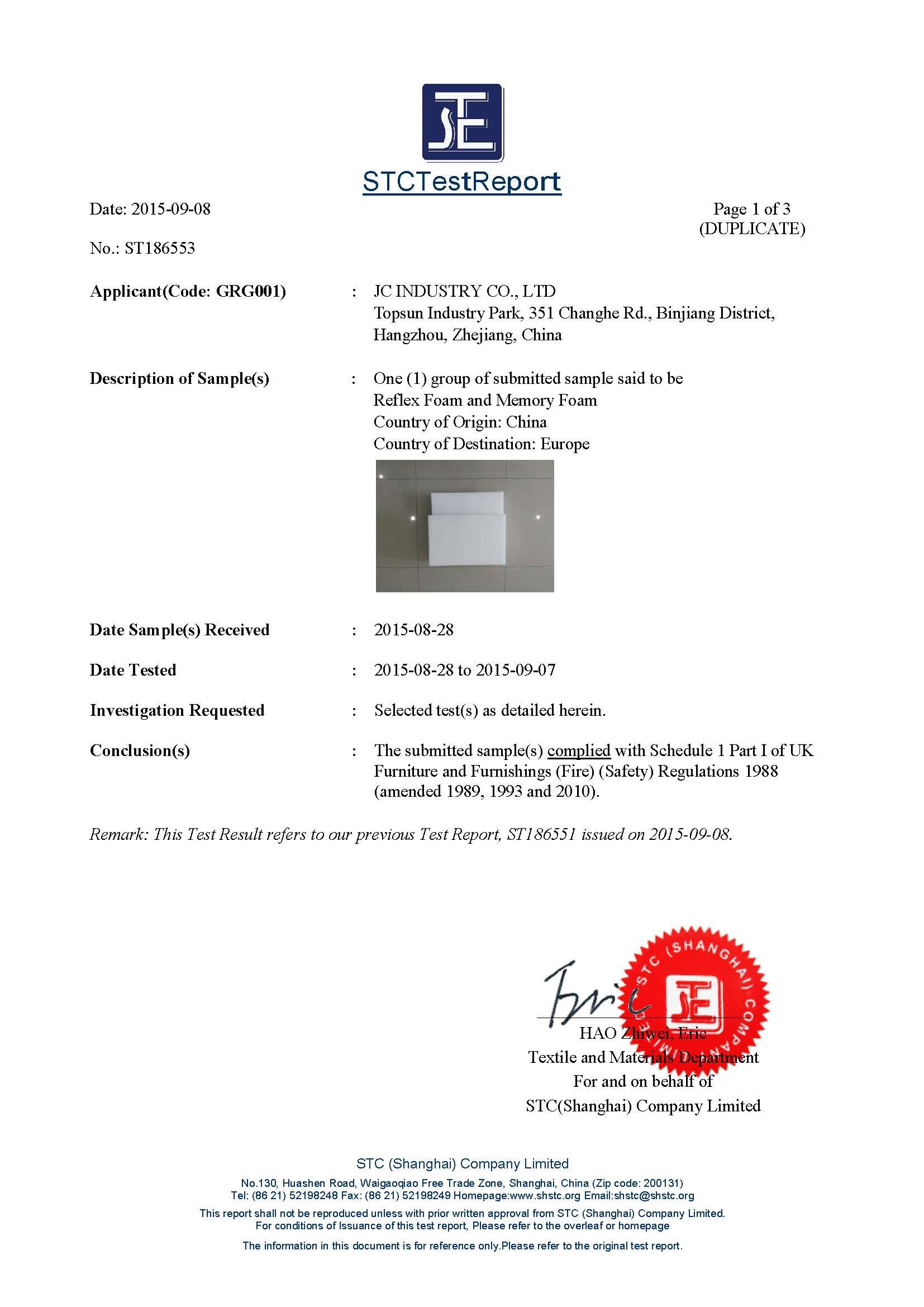 BS5852 Certificate