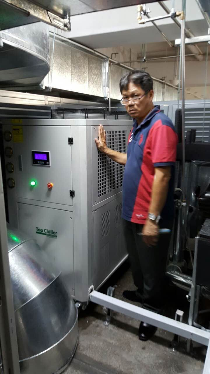 15TR WITH 78KW AIR COOLED INDUSTRIAL CHILLER USED IN CAVITE MANILA PHILIPPINES CUSTOMER