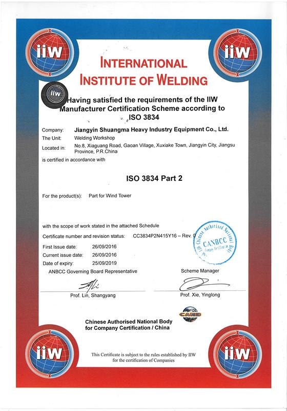 International Institute Of Welding ISO 3834