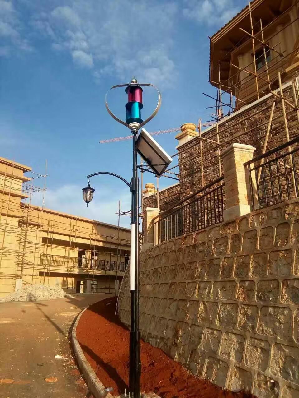 Q1 series vertical wind turbine streetlight project