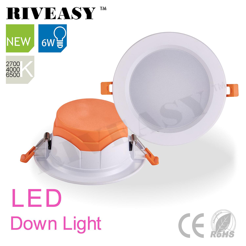 LED Ceiling Lamp Orange 6W LED Downlight Whit Ce&RoHS