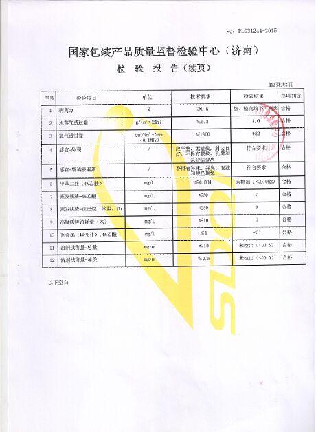 Food Grade Testing Report 3