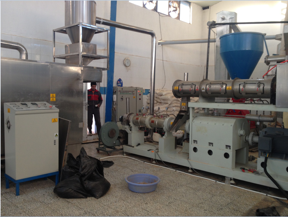 install 800-1000kg/h fish food machine in iran