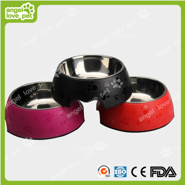 Matte Surface Footprint Pattern Plastic Pet Dog Bowl