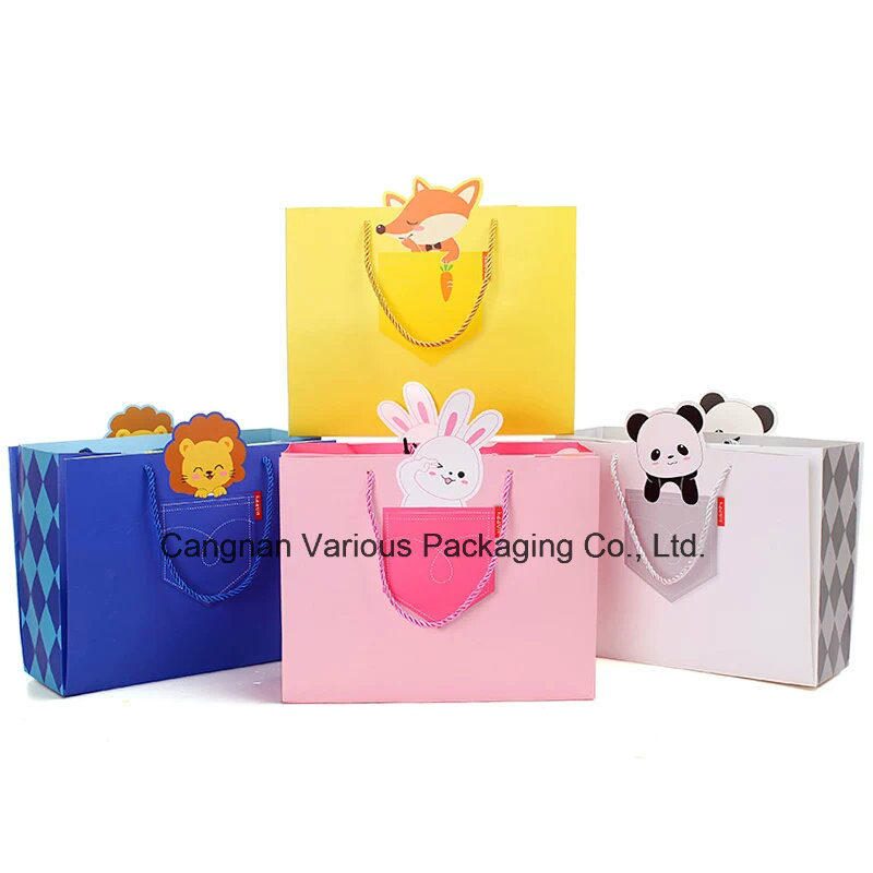Lovely Catoon Gift Paper Bag, Kids Shopping Bag