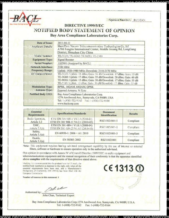 CE certificatation