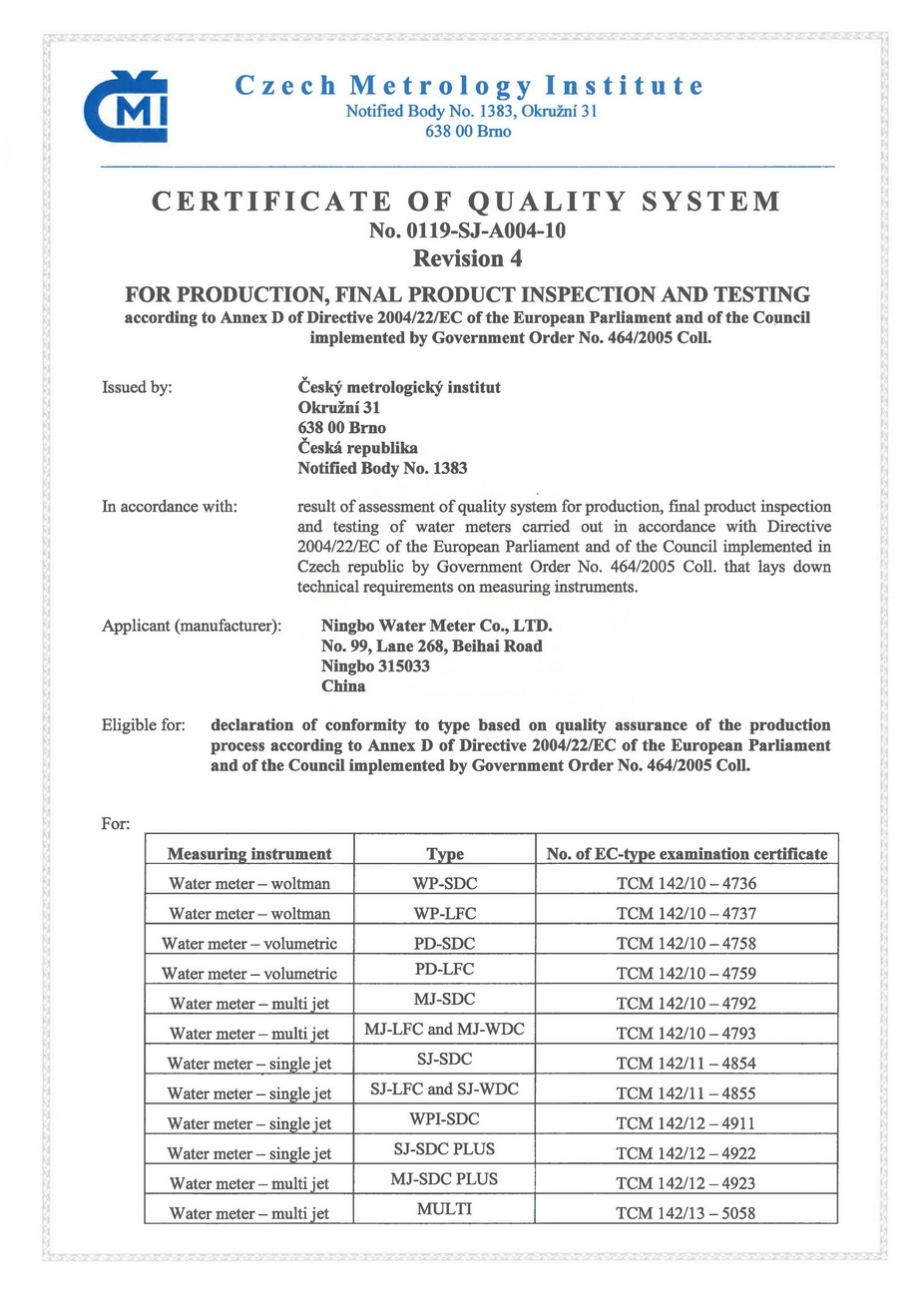 EC-TYPE APPROVAL CERTIFICATION