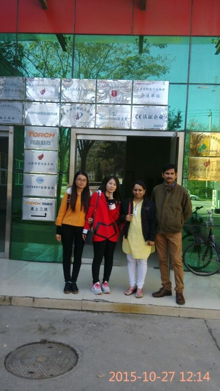 India Customer Visited our SMT LED PCB Assemble Line in Oct,2015.