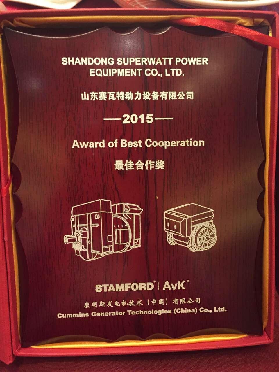 Cummins Best Cooperation Award