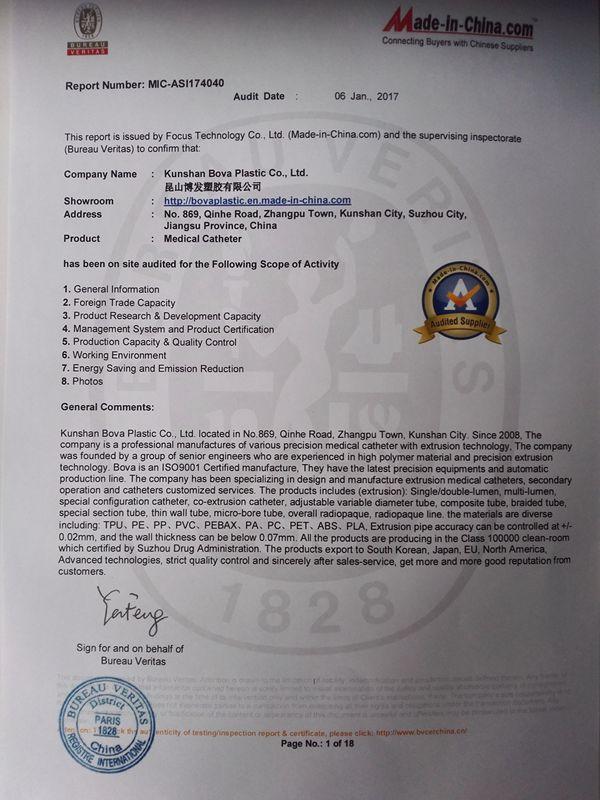 Bureau Veritas Certificater