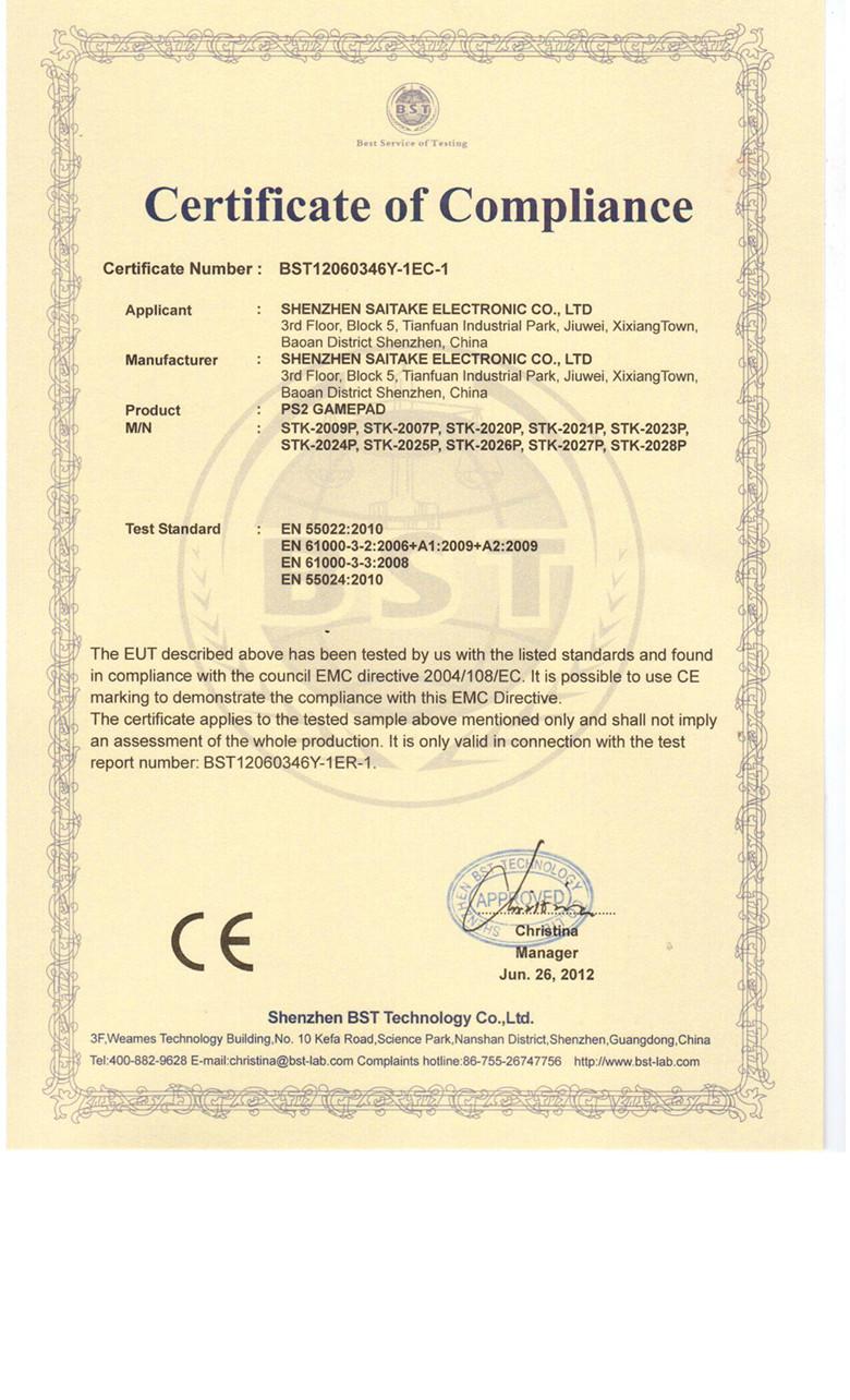 PSII CE certificate