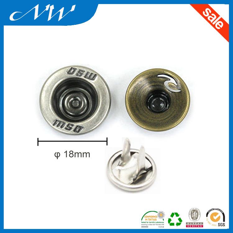 Metal Copper Shank Button