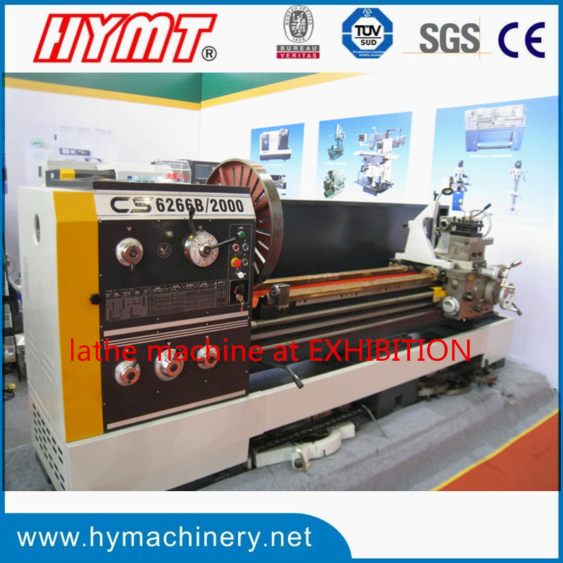 CS6266Cx2000 horizontal gap-bed lathe machine at machine exhibition