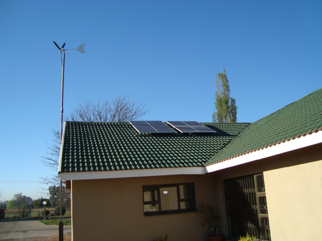 Inverter installtion with panel and MPPT solar charge controller