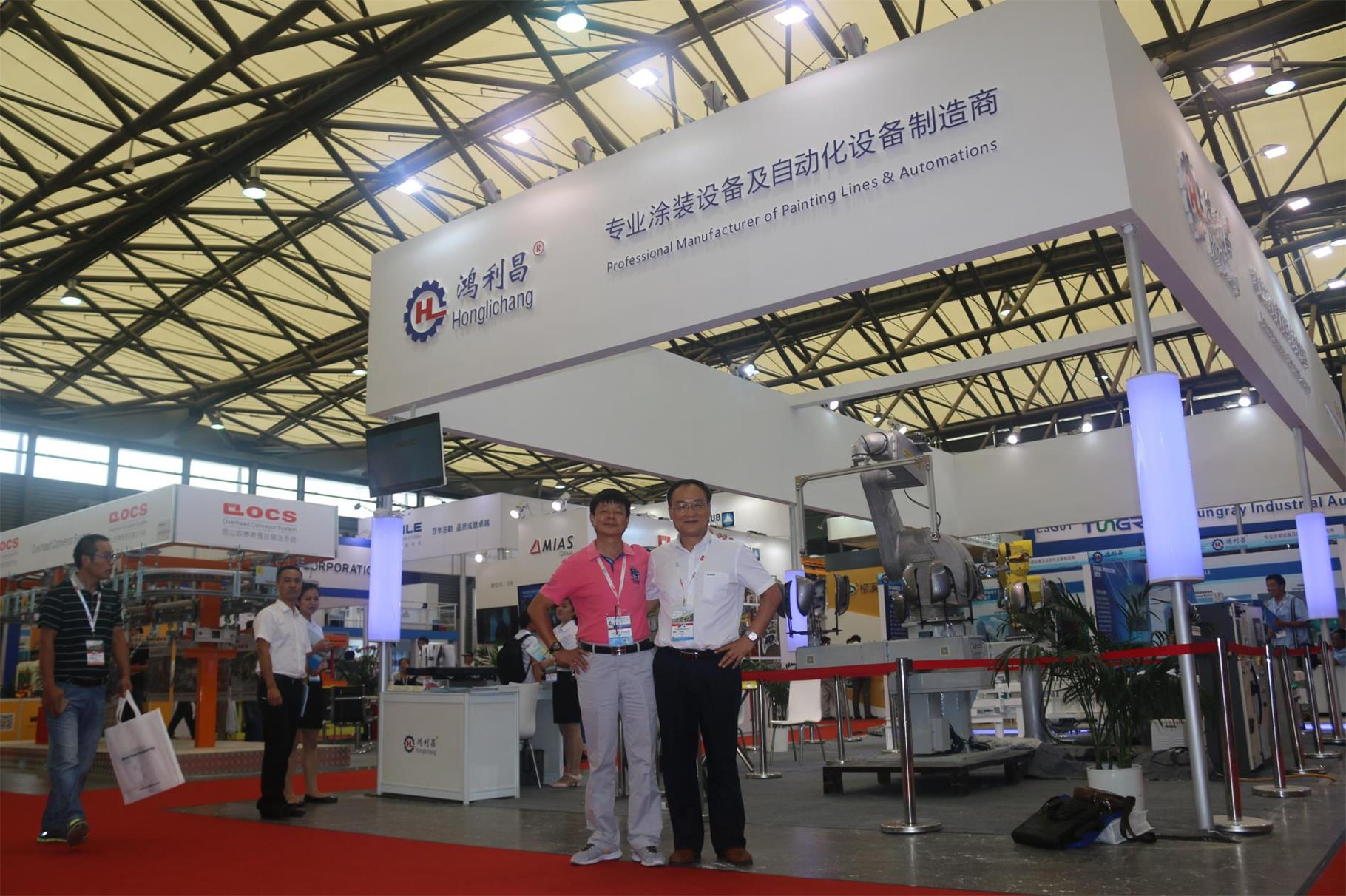 The Photo with Our Clients in Shanghai Exhibitiion