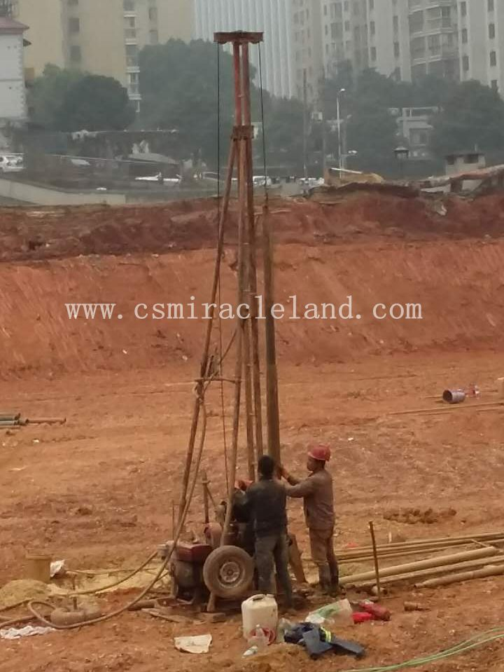 Geotechnical investigation drilling site