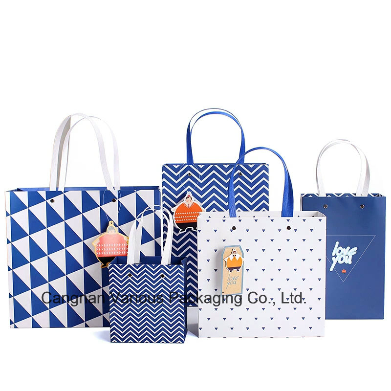 Custom Printed Packaging Paper Bag with Handle,clothes packaging bag,carrier bag