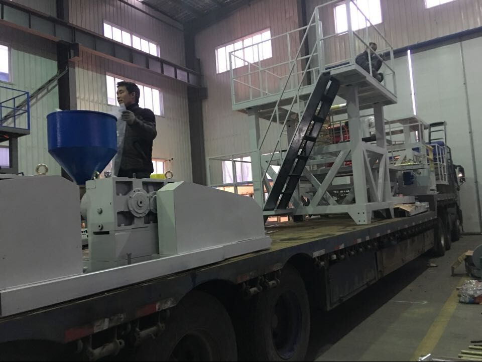 Four sets of Film Blowing Machine ready for shipment to domestic client