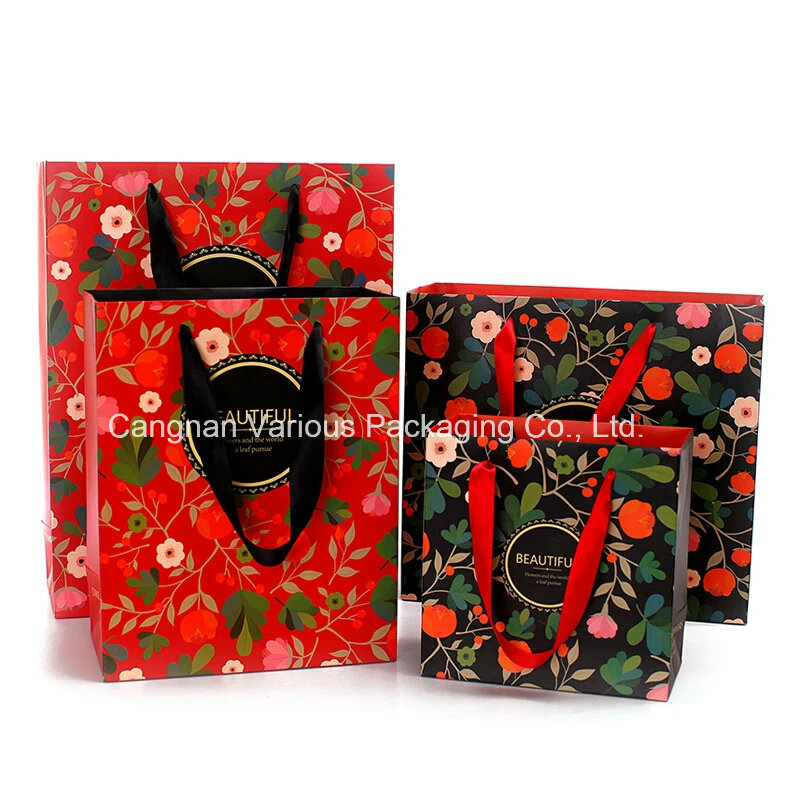 Printed Paper Bag for cosmetic Packing, Beauty Packaging Bag