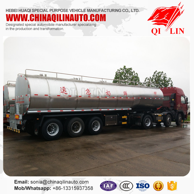 2 units milk cooling tank truck trailer for sale