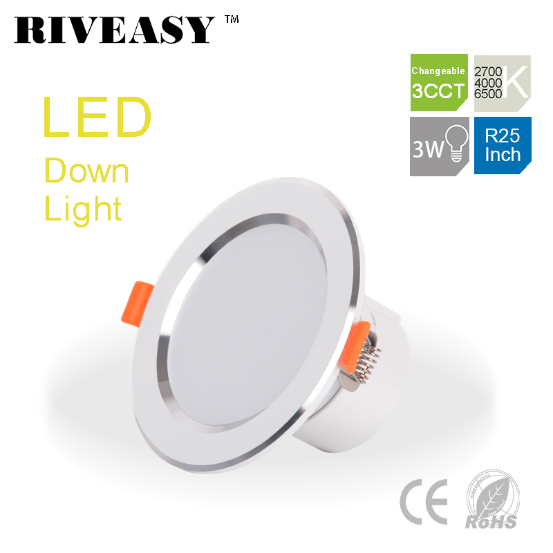 LED 3CCT Downlight Spotlight with CE&RoHS