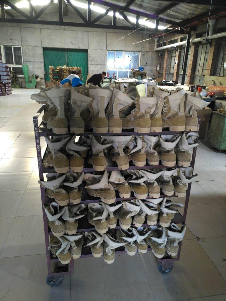 Army DMS Desert Boot making