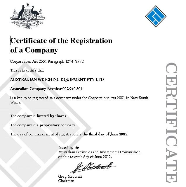 AWE Certificate