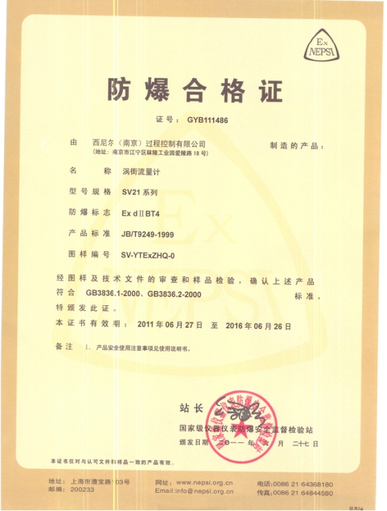 Explosion-proof Certificate 2